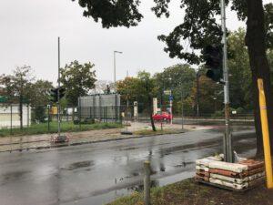 Rahnsdorfer Straße Ampelanlage im Aufbau